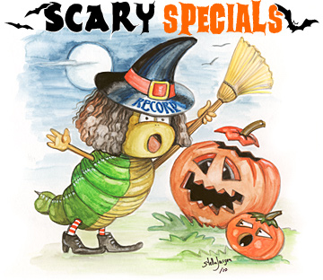 Scary Specials - Recorp Inc. October Special, Copyright © 2010, Recorp Inc., illustration by Stella Jurgen.
